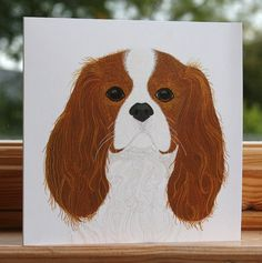 Cavalier King Charles Spaniel - Greeting card
