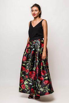 Dlhá elegantná sukňa s kvetinovým vzorom - Rouzit.sk Waist Skirt, High Waisted Skirt, Skirts, Fashion, Moda, High Waist Skirt, Fashion Styles, Skirt