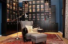METOD - Library,  Biblioteka z nowych szafek kuchennych IKEA! Piękna! Do sufitu! A wydawało się, że Billy jest bez konkurencyjny...