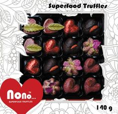 Superfoods Chocolates Gift Box - Nono Hearts & Roses Chocolate Snacks, Chocolate Gift Boxes, Raw Chocolate, Nut Free, Dairy Free, Gluten Free, Coeliac Diet, Healthy Foods, Healthy Recipes