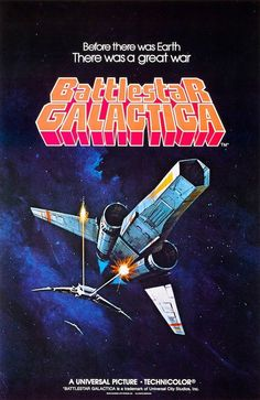 Battlestar Galactica Viper Poster 1978 Rare SCI FI | eBay