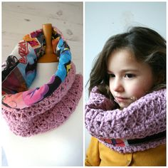 Crochet Pattern Upcycled fabric and crochet cowl by LuzPatterns