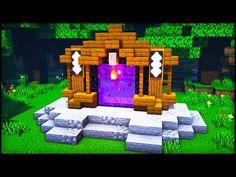 Minecraft Portal, Minecraft Room, Minecraft Plans, Minecraft Survival, Amazing Minecraft, Minecraft Blueprints, Minecraft House Tutorials, Minecraft House Designs, Minecraft Tutorial