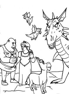 coloring page Shrek Fiona 3 Kids-n-Fun | Shrek the Musical ...