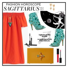 """Fashion Horoscope: Sagittarius"" by cara-mia-mon-cher ❤ liked on Polyvore featuring J.Crew, Charlotte Olympia, ALDO, Trish McEvoy, Journee Collection, Gucci, fashionhoroscope and stylehoroscope"