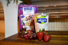 Alpro Soya yoghurt, fruit, seeds. Healthy lunch or snack #Blog