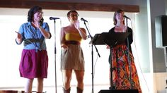 Orlando vocal trio Due South sings Moira Smiley's Bring Me Little Water Silvy at the Swamp Sista LaLa at East End Market.
