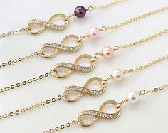 Items similar to Infinity bracelet, bestfriend bracelet, Swarovski Pearl bracelet ,Bridesmaid gift on Etsy Pearl Bracelet, Gold Necklace, Wedding Jewellery Gifts, Wedding Bracelet, Swarovski Pearls, Anklet, Bridesmaid Gifts, Unique Jewelry, Bracelets