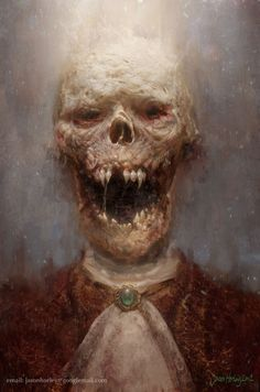 One of the scariest skulls I have seen! Vampire Corpse: http://skullappreciationsociety.com/vampire-corpse/ via @Skull_Society