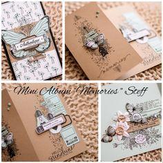 Mini album Memories Steff Mini Album Scrap, Mini Albums Scrapbook, Diy Photo, Paper Cards, Diy Cards, Card Tags, Gift Tags, Brag Book, Art Journal Pages