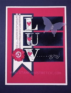 Stamp and Stretch: Stampin'Up Valentine using Chalkboard Technique  www.stampandstretch.com