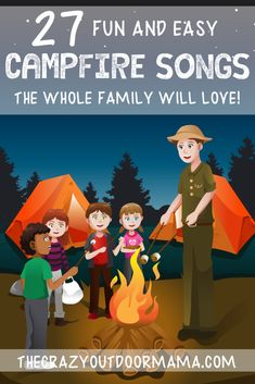 27 Campfire Songs Kids Will Love [Printable PDF] - Check out these 27 fun camping songs for kids that are perfect for singing while cozy around the ca - Camping Songs For Kids, Songs For Toddlers, Camping Theme, Camping Crafts, Camping With Kids, Kids Songs, Camping Ideas, Camping Hacks, Funny Songs For Kids