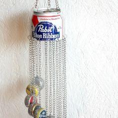 Beer Bottle Cap Windchime 3 by ReaghansRose on Etsy