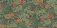 Reverie (0280REJUNGL) - Little Greene Wallpapers - A stunning interpretation of a 1970's classic, a bold jungle multicoloured all over design. Shown in the Jungle rich green colourway. Please request a sample for true colour match.