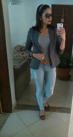 Segunda feira de muito trabalho! #jeans #cinza