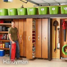 Garage Storage: Space-Saving Sliding Shelves                                                                                                                                                                                 More