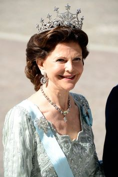 """Queen Silvia; wedding of Princess Madeleine of Sweden and mr. Christopher """"Chris"""" O'Neill, June 8th 2013"""