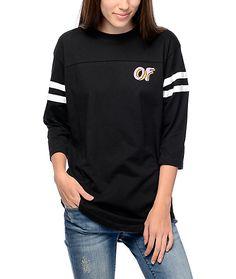 76e3af85abd1ca Odd Future Striped Football T-Shirt