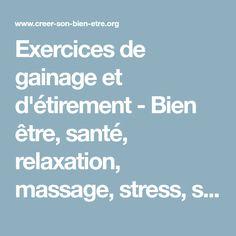 88690e677e26e Exercices de gainage et d'étirement - Bien être, santé, relaxation, massage