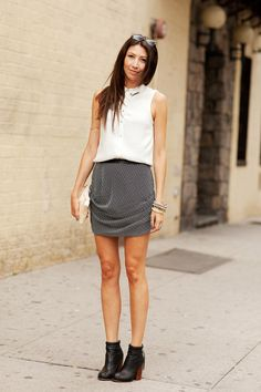 When It Comes To Street Style, Sometimes Less Is More #Refinery29 | Minimal