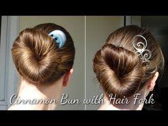 Haartraum Cinnamon Bun mit Forke - YouTube