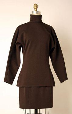 Ensemble Calvin Klein (American) ca. fall/ winter 1987 wool, nylon, lycra