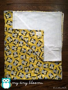 Handmade Baby Blanket- Toddler Blanket- Owl Baby Blanket- Navy Owl Nursery- Crib Blanket- Grow with Me Blanket- Double Layer Baby Blanket