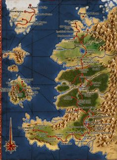 Map of Albion (At the time of The Hero of Oakvale), from the CRPG Fable II