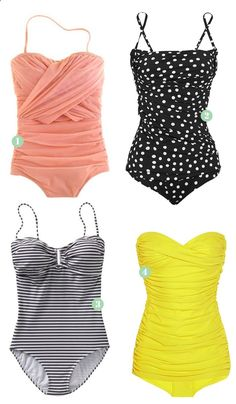 I love these one piece swimsuits!