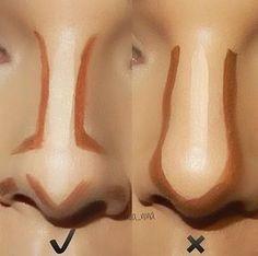 Questa è la tecnica corretta per il contouring al naso!