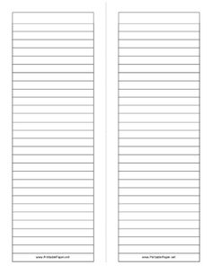 This foldable note paper gives you two tall half-sheet sized lined writing areas. Great for making booklets in school. Free to download and print