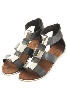 FREEMAN Pyramid Stud Sandal - Flat Sandals - Flats  - Shoes