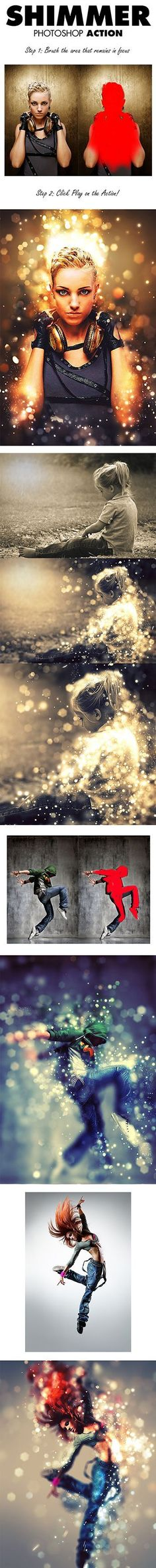4-Shimmer Photoshop Action-                                                                                                                                                     More