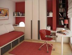 pequeño dormitorio juvenil