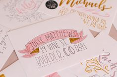 Envelope Addressing and Decorating Inspiration Using Tombow Dual Brush Pens & Mono Drawing Pen - Lily & Val Living Hand Lettering Envelopes, Mail Art Envelopes, Cute Envelopes, Addressing Envelopes, Letter Addressing, Calligraphy Envelope, Pen Pal Letters, Cute Letters, Letters Mail