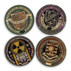 Official Discworld stickers guaranteeing civic protection from Ankh-Morpork's Assassins, Beggars and Thieves' Guilds and Unseen University! Discworld Characters, Discworld Books, Fantasy Fiction, Fantasy Books, Terry Pratchett Discworld, Harry Potter, Bottle Cap Images, Map Art, Larp