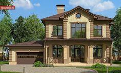 Готовый проект 2-этажного дома с гаражом на 2 машиноместа площадью 244м2 в Краснодаре
