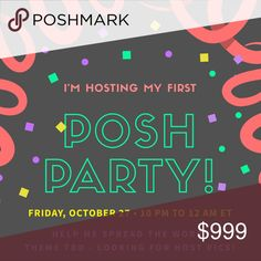HOSTING MY FIRST POSH PARTY FRI 10/27 I'm so excited to be co-hosting my FIRST Posh Party on Friday, October 27th from 10 PM to 12 AM ET! 💕 The theme is TBD, but I'm on the hunt for Host Picks! 💕 Please help me spread the word- share this listing and tag your favorite closets and PFFs below! Kendra Scott Other