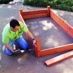how to build above ground garden containers.