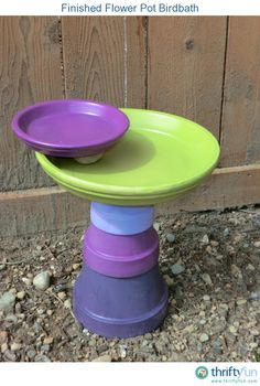 I really wanted to have a bird bath in our yard, but every time I found one that I liked it was so expensive. I decided to try and make my own using stacked flower pots and saucers. crafts
