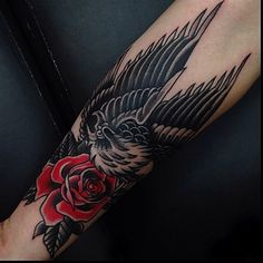 Loving the black and red. Tattoo by Jay Breen @jaybreentattooer