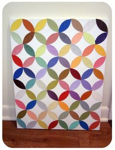 Made using various colors of paint chips! One done in various shades of one color would be cool!!