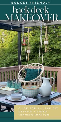 Back deck makeover – no renovating required! Budget friendly additions + some DIY painting projects and this space has had a major facelift! Small House Decorating, Summer Decorating, Decorating Tips, Outdoor Spaces, Outdoor Living, Outdoor Decor, Airbnb Design, Deck Makeover, Backyard Renovations