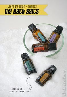 Tutorial on how to make healing bath salts with pure essential oils