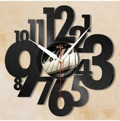 "Spell Time Unique ""Letter"" Vinyl Wall Clock"