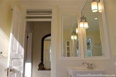 Vintage bathroom design for our old house bathroom remodel.