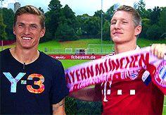 Tobias and Bastian Schweinsteiger