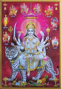 233 Best Jai Durga Maa For Watsapp photos by lakshitaaggarwal Maa Durga Image, Durga Kali, Shiva Shakti, Durga Goddess, Kali Hindu, Shiva Art, Krishna Art, Hindu Art, Lord Krishna