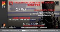 """""""Dale Voz"""" realizará Taller de Doblaje Nivel II en el Centro Cultural Chacao http://crestametalica.com/dale-voz-realizara-taller-de-doblaje-nivel-ii-en-el-centro-cultural-chacao/ vía @crestametalica"""