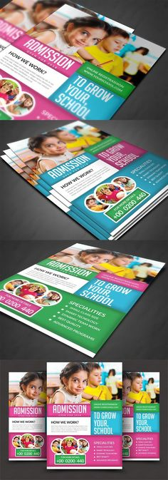Education Flyer Templates School Advertising, Advertising Design, Education Galaxy, Professional School, Flyer Design Inspiration, Business Design, Business Flyers, Magazines For Kids, Programming For Kids